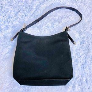 Ralph Lauren Vintage Black Nylon Shoulder Purse